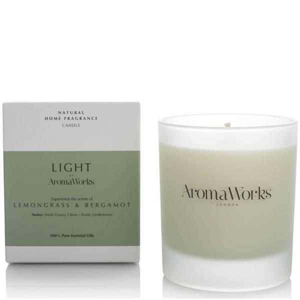 AromaWorks 焕亮系列香氛蜡烛 30cl | 香茅和佛手柑