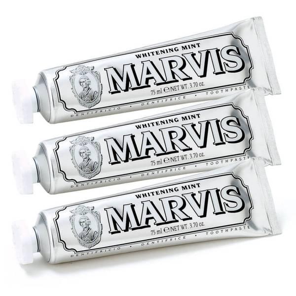 Marvis 美白薄荷牙膏三件套 3 x 85ml