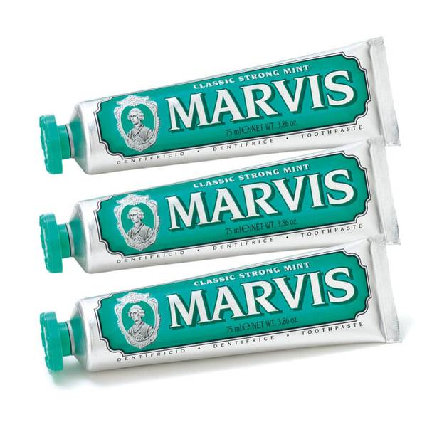 Marvis 经典浓郁薄荷牙膏三件套 3 x 85ml