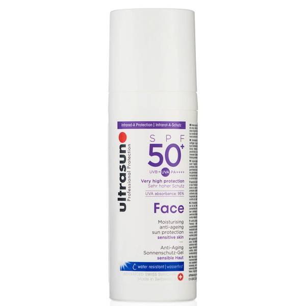 Ultrasun的面部抗衰老乳液SPF 50