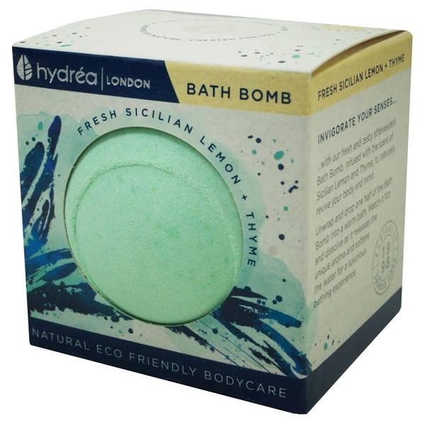 Hydrea London 西西里柠檬和百里香提振沐浴气泡弹 2 x 60g