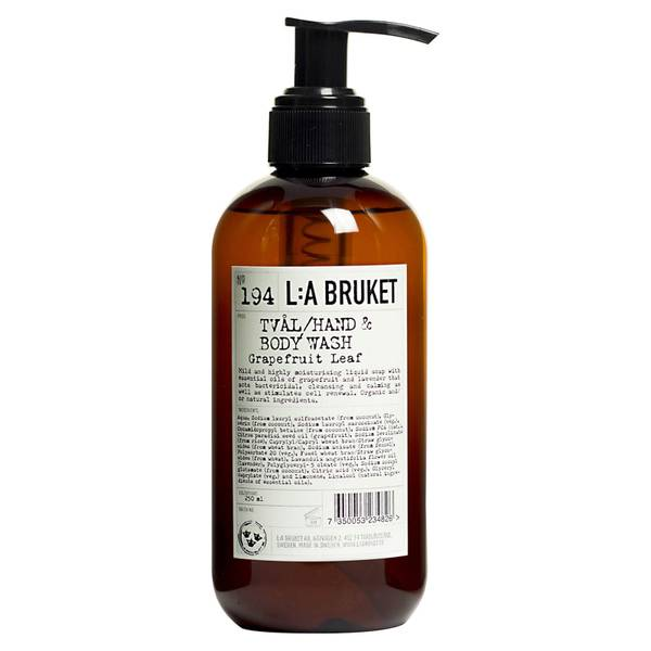 L:A BRUKET Small Grapefruit Leaf Hand and Body Wash 240ml