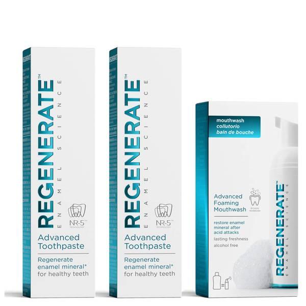 Regenerate 牙膏(2 件)和漱口泡沫套装