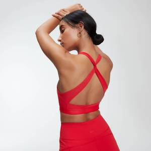 Power 力量系列 女士交叉运动内衣 - 红色