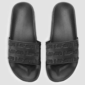 女士休闲拖鞋 - 黑色
