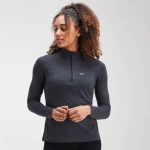 MP Women's Performance Zip Training Top- Black/Charcoal Marl