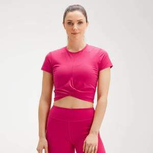 MP Women's Power Short Sleeve Crop Top - Virtual Pink