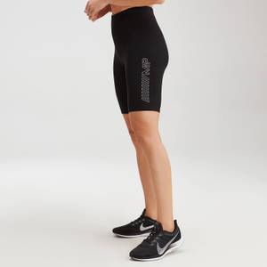 MP Women's Outline Graphic Cycling Shorts - Black