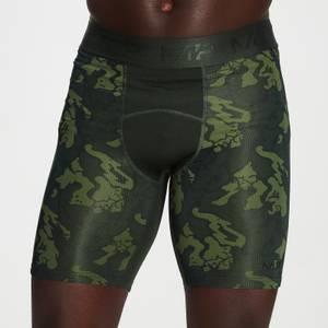 MP男士Adapt系列迷彩印花紧身短裤 - 绿色迷彩