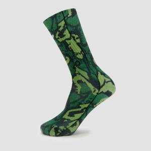 MP x Hexxee合作款Adapt系列中筒运动袜 - 绿色迷彩