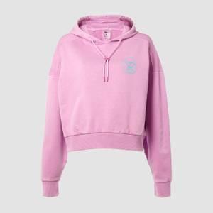 MP X Zack George Women's Washed Crop Hoodie - Pink Lavender