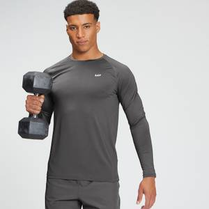 MP Men's Tempo Graphic Long Sleeve Top - Carbon