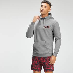 MP Men's Adapt Embroidered Hoodie | Storm Grey Marl | MP