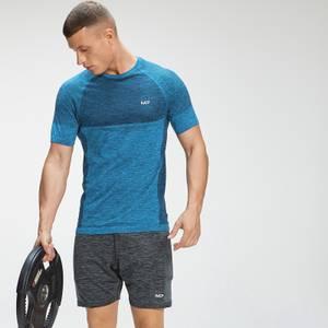 MP Men's Essential Seamless Short Sleeve T-Shirt - Bright Blue Marl