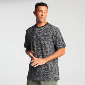 MP Men's Raw Training Short Sleeve Camo Oversized T-Shirt - Black