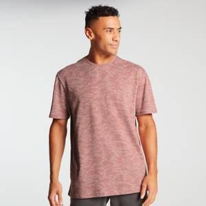 MP Men's Raw Training Short Sleeve Camo Oversized T-Shirt - Dust Pink