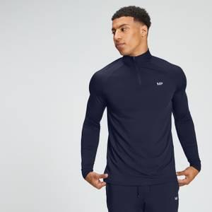 MP男士必备系列1/4拉链运动衫 - 海军蓝
