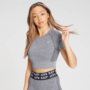 MP Women's Curve Crop Short Sleeve T-Shirt - Grey