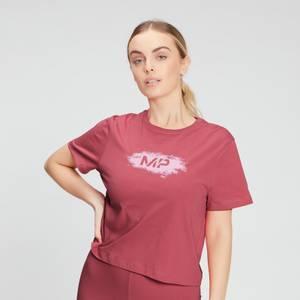 MP Women's Chalk Graphic Crop T-shirt - Berry Pink