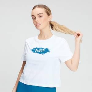 MP Women's Chalk Graphic Crop T-shirt - White