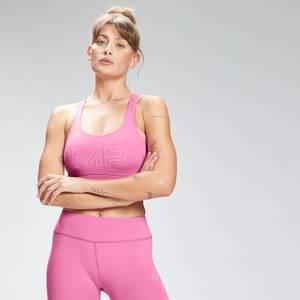 MP Women's Repeat Mark Graphic Training Sports Bra - Pink