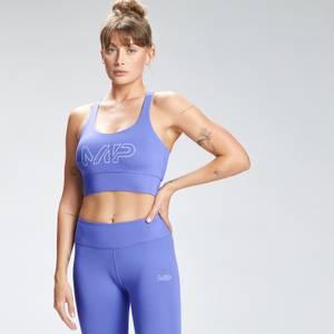 MP Women's Repeat Mark Graphic Training Sports Bra - Bluebell