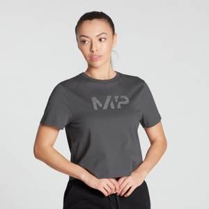 MP Women's Gradient Line Graphic Crop T-shirt- Carbon