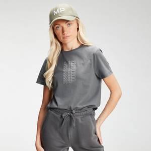 MP Women's Repeat MP Crop T-Shirt - Carbon