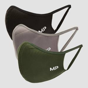 MP Curve Mask (3 Pack) - Black/Leaf Green/Carbon