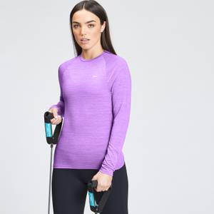 MP Women's Performance Long Sleeve Training T-Shirt - Deep Lilac Marl with White Fleck
