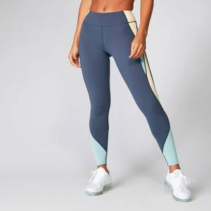 Power 力量系列 Deluxe 紧身裤- 蓝紫色拼接