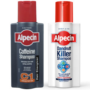 Alpecin 去头屑与咖啡因洗发水两件套