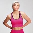 Seamless 无缝系列女士后背交叉运动内衣 - 桃粉色 - XS