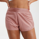 MP Women's Velocity Double Layered Shorts- Washed Pink - XXS