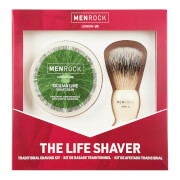 Men Rock The Life Shaver (Sicilian Lime Shave Cream, The Brush)