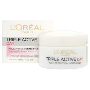 L'Oreal Paris Dermo Expertise Triple Active 多效保护日霜- 干性/敏感型皮肤(50ml)