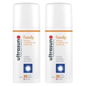 Ultrasun家庭型防晒霜两件套 SPF 30 - 超敏感(2×150ml)