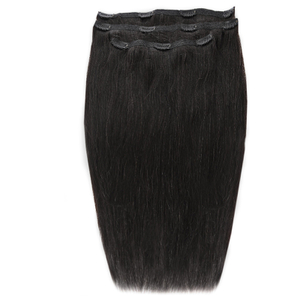 Beauty Works Deluxe Clip-In Hair Extensions 18 Inch - Jetset Black 1