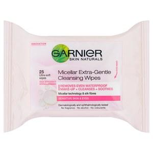Garnier 自然感美肌超温和胶束卸妆湿巾 25 抽