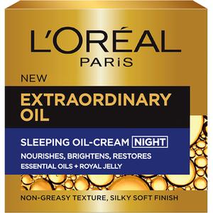 巴黎欧莱雅Extraordinary Oil睡眠修复滋润精华油晚霜(50ml)