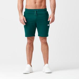 Tru-Fit 修身系列 男士棉质运动短裤 - 深绿