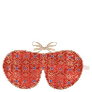 Holistic Silk 眼罩和拖鞋套装 – 杏红色