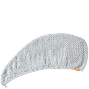 Aquis 单色奢华款干发帽 | 白黑轮胎花纹