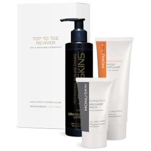 LDN: SKINS AND MONU Skins Top To Toe Reviver - Tan & Skincare Essentials