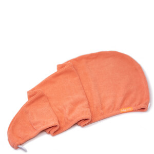 Aquis 单色奢华版干发帽 | 晨光橘色
