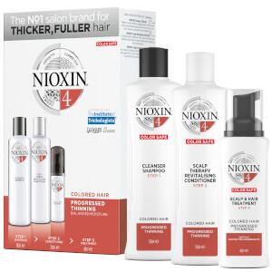 NIOXIN 护发三部曲试用套装 4 | 比较稀疏的染色发质