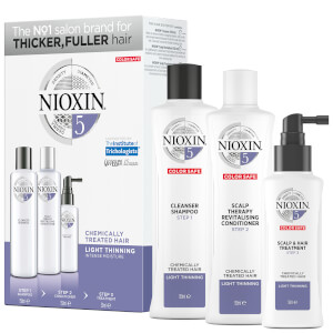 NIOXIN 3-Part System 5 Trial Kit for Chemically Treated Hair with Light Thinning
