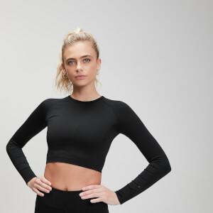 MP女士塑身系列短款健身长袖T恤 - 黑