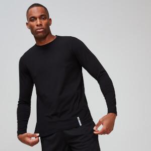 MP男士Luxe系列经典长袖圆领T恤 - 黑