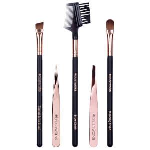 brushworks 奢华系列眉妆工具套装 | 玫瑰金